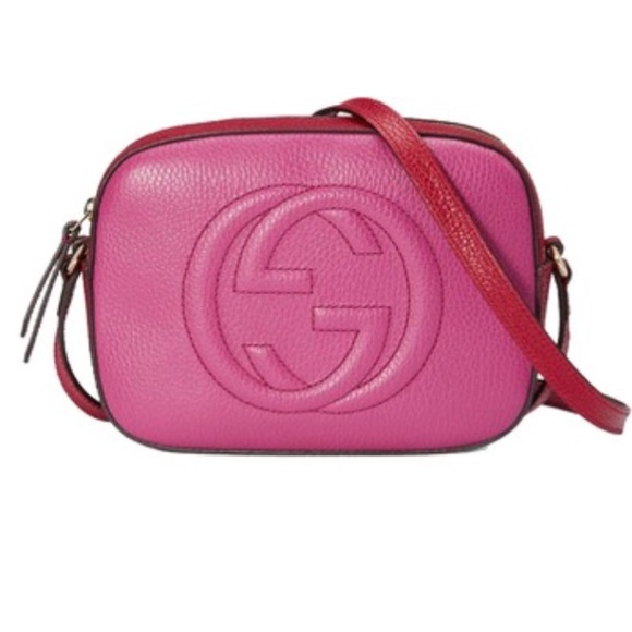 239b7791f717b6 Gucci Handbags - Gucci Disco Soho Pink & Red Crossbody Handbag!